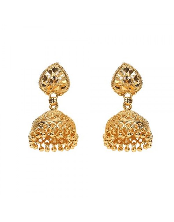 Ethnic Gold Plated Drop Dangle Jhumki