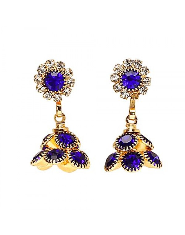Oxidized Gold Plated Drop Dangle Jhumki