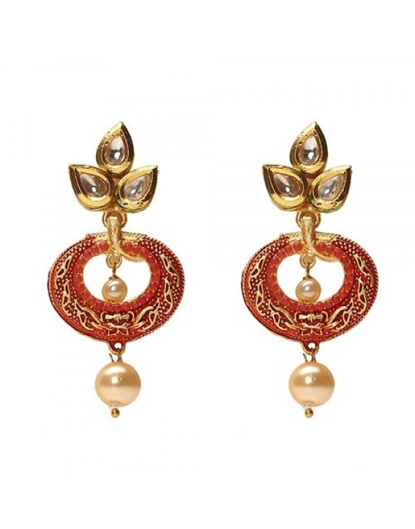 Gold Plated Alloy Metal Kundan