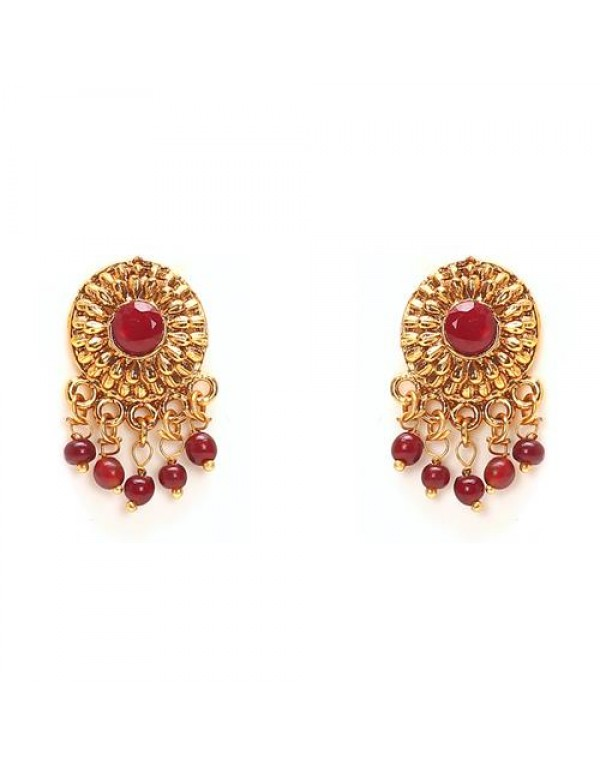 Gold Plated Traditional Earrings