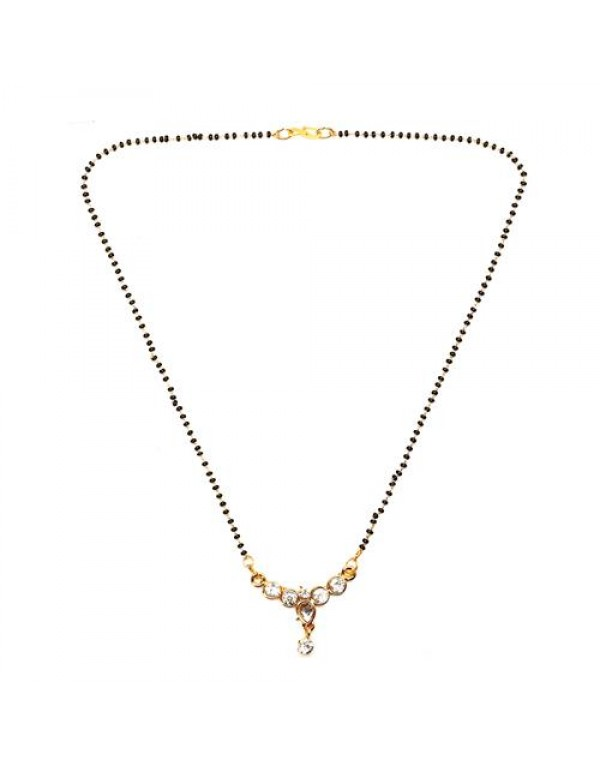 Gold Plated American Diamond Mangalsutra